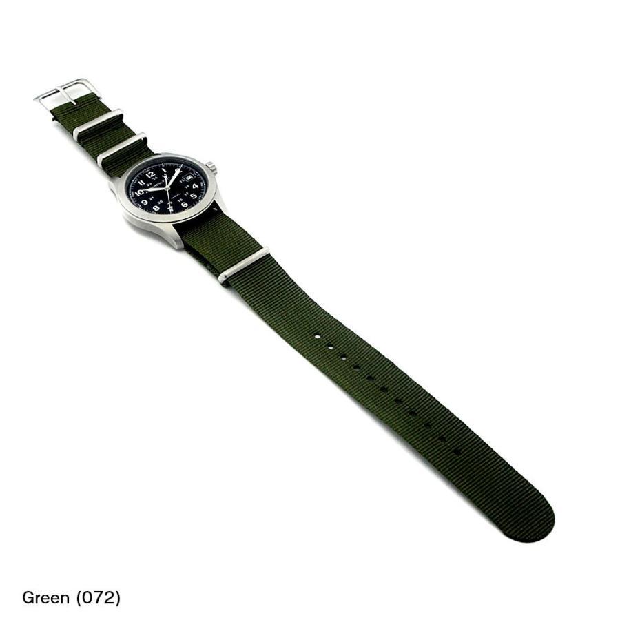 ハミルトン カーキ用 HAMILTON Khaki にぴったりの時計ベルト ナイロン TYPE NATO 141601S mano-a-mano 04