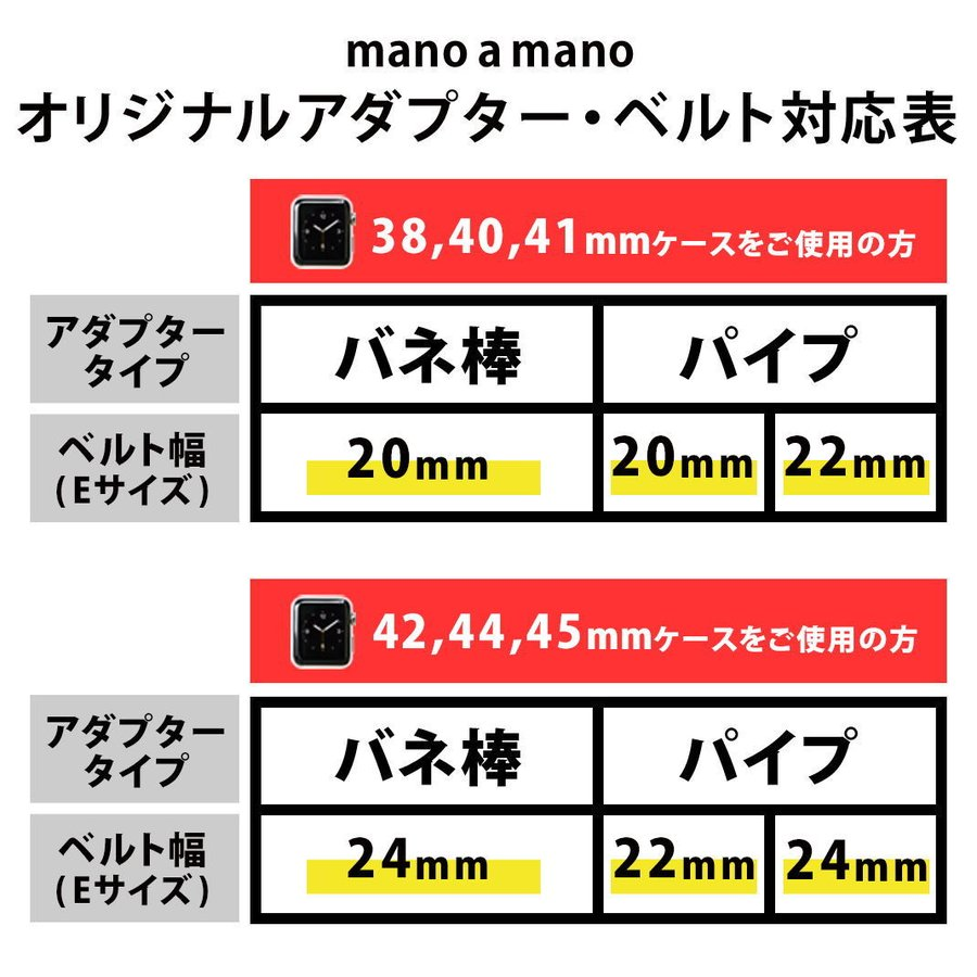 アップルウォッチ バンド ベルト交換アダプター ラグ ステンレススチール AP Apple Watch用バンド交換 38mm 40mm 42mm 44mm ネコポス送料無料|mano-a-mano|03