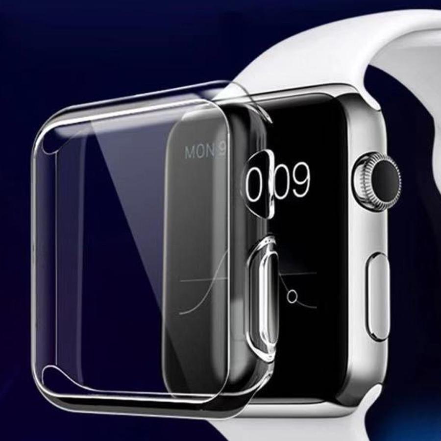 アップルウォッチ カバー ケース Apple Watch カバー ケース 6,SE,5,4,3,2,1 対応 クリア 透明 耐衝撃 衝撃吸収 38mm 40mm 42mm 44mm カシス製 CASSIS mano-a-mano 02