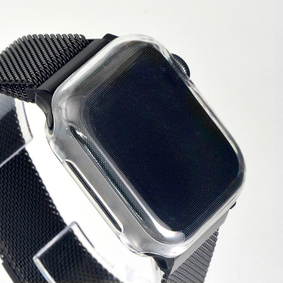 アップルウォッチ カバー ケース Apple Watch カバー ケース 6,SE,5,4,3,2,1 対応 クリア 透明 耐衝撃 衝撃吸収 38mm 40mm 42mm 44mm カシス製 CASSIS mano-a-mano 03