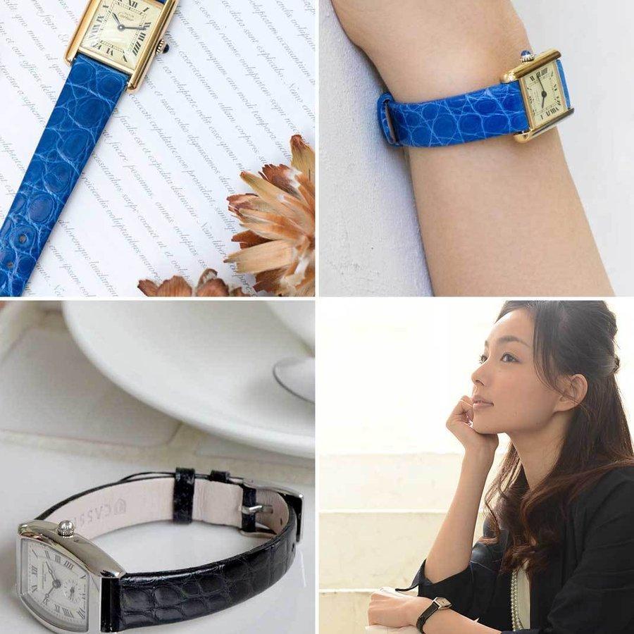 腕時計ベルト バンド レディース 交換 ワニ革 16mm 15mm 14mm 13mm CASSIS RIOM shiny D0000B68|mano-a-mano|07