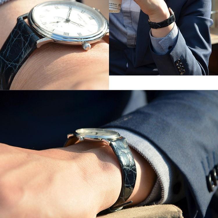 腕時計ベルト バンド 交換 カイマン(ワニ革) 20mm 18mm 16mm CASSIS COLMAR U0000A72|mano-a-mano|07