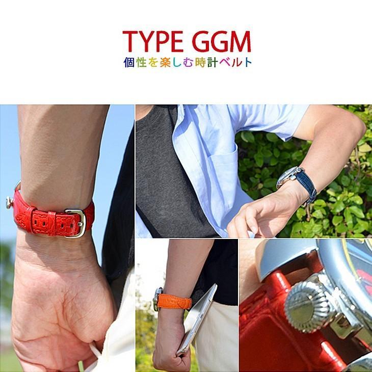 腕時計ベルト バンド 交換 牛革 ガガミラノ(GAGA MILANO) 用 CASSIS TYPE GGM U1003329 mano-a-mano 05