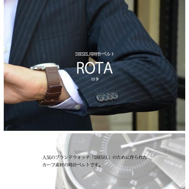 腕時計ベルト バンド 交換 牛革 メンズ 大型 DIESEL 用 24mm CASSIS ROTA U1006226|mano-a-mano|04
