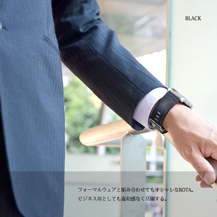 腕時計ベルト バンド 交換 牛革 メンズ 大型 DIESEL 用 24mm CASSIS ROTA U1006226|mano-a-mano|05
