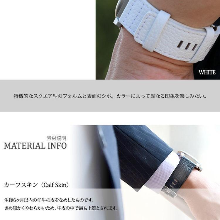 腕時計ベルト バンド 交換 牛革 メンズ 大型 DIESEL 用 24mm CASSIS ROTA U1006226|mano-a-mano|07