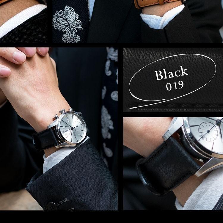 腕時計ベルト バンド 交換 牛革 メンズ 22mm 20mm 18mm CASSIS CHICAGO U1031331|mano-a-mano|08