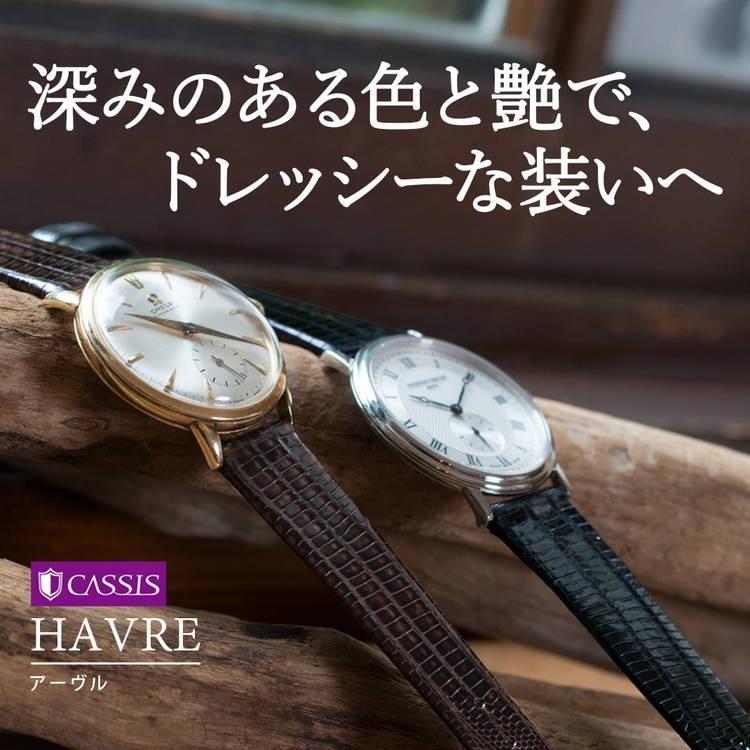 腕時計ベルト バンド 交換 テジュ リザード 20mm 19mm 18mm 17mm CASSIS HAVRE U1089041|mano-a-mano|04