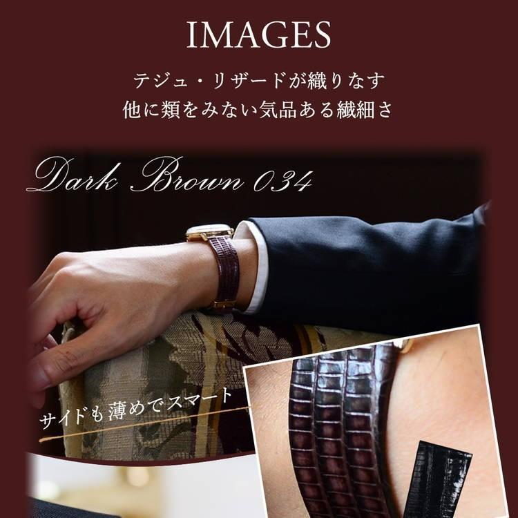 腕時計ベルト バンド 交換 テジュ リザード 20mm 19mm 18mm 17mm CASSIS HAVRE U1089041|mano-a-mano|07