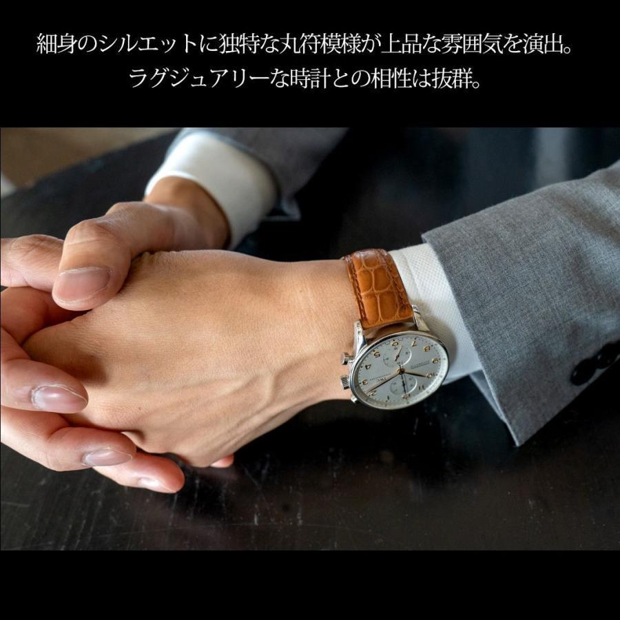 腕時計ベルト バンド 交換 ワニ革 メンズ 20mm 19mm 18mm CASSIS AMBERT U1119A68 mano-a-mano 05