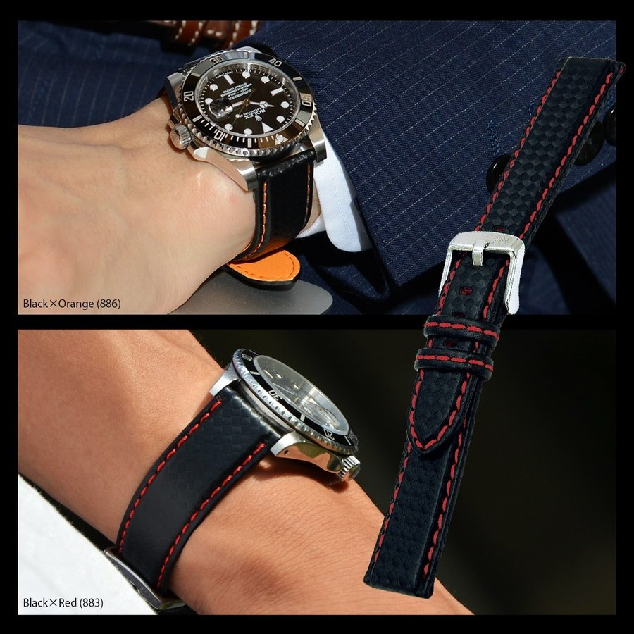 腕時計ベルト バンド 交換 ラバー 24mm 22mm 20mm 18mm MORELLATO BIKING U3586977|mano-a-mano|08