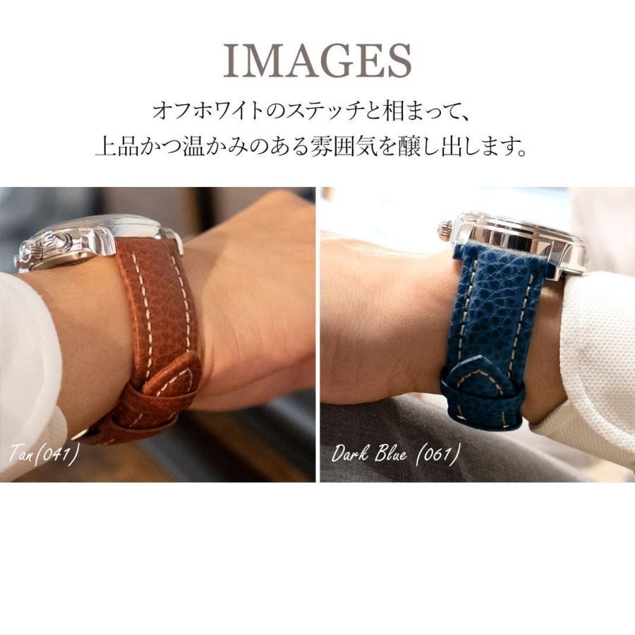 腕時計ベルト バンド 交換 牛革 メンズ 24mm 22mm 20mm 18mm MORELLATO KUGA U3689A38|mano-a-mano|06