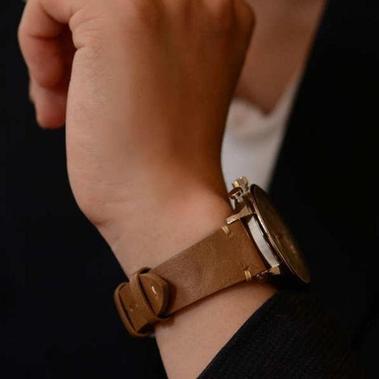 腕時計ベルト バンド 交換 牛革 24mm 22mm 20mm 19mm 18mm CASSIS GRENOBLE X0031331 mano-a-mano 08
