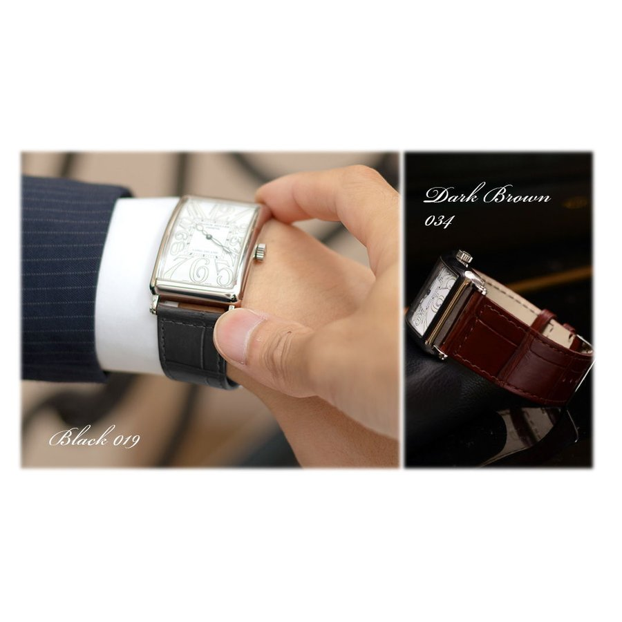 腕時計ベルト バンド 交換 ワニ革 フランクミュラー用 CASSIS TYPE LGI X2206339|mano-a-mano|06