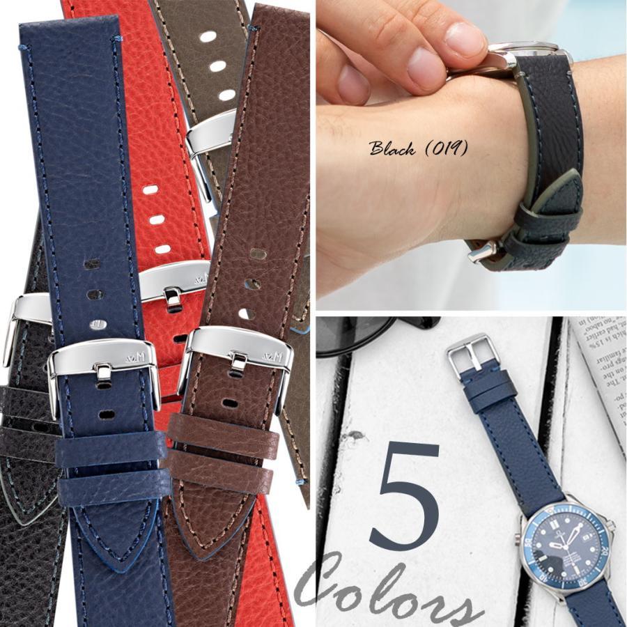 腕時計ベルト バンド 交換 カーフ 24mm 22mm 20mm 18mm MORELLATO PARAGLIDING X5394D14|mano-a-mano|07