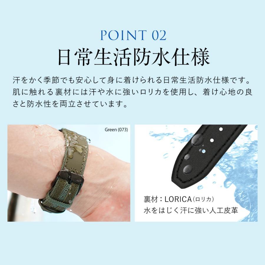 腕時計ベルト バンド カーフ(ラバーコーティング)・ファブリック MORELLATO HYDROSPEED X5395B55 mano-a-mano 08