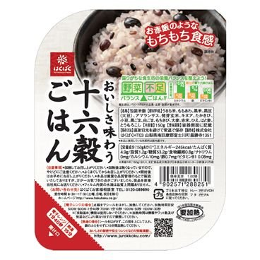 『十六穀ごはん』150g  レトルトごはん 4ケース(24パック)販売 バランスの良い雑穀入りパックごはん|manryo