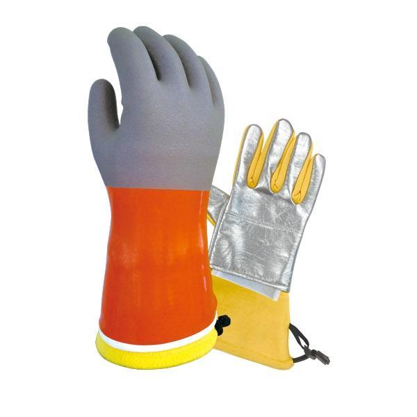 まとめ買い!10セット ハイブリッドオイルミット Mサイズ 5双 二重防寒手袋 作業用グローブ ハイブリット樹脂手袋