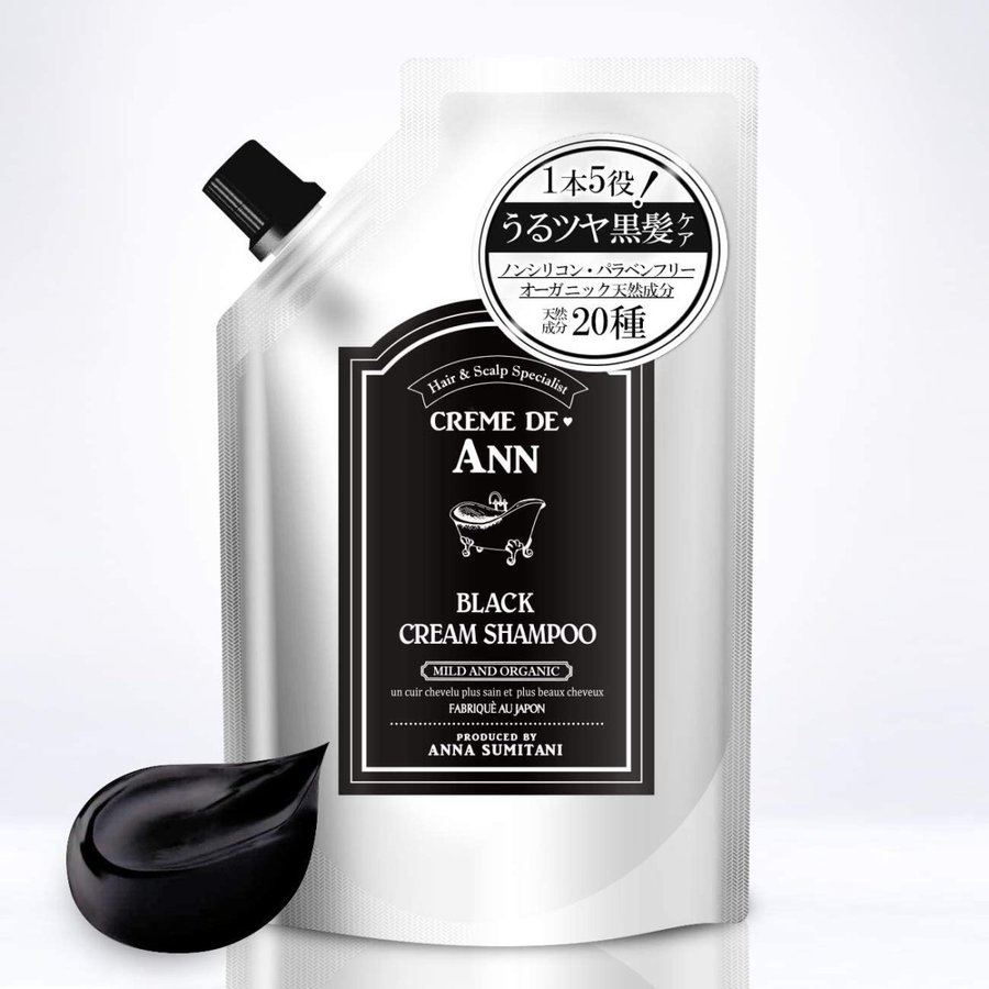 養毛シャンプー 白髪 薄毛 発毛 対策 Creme de Ann(クレムドアン) (ブラックシャンプー) manten00shop