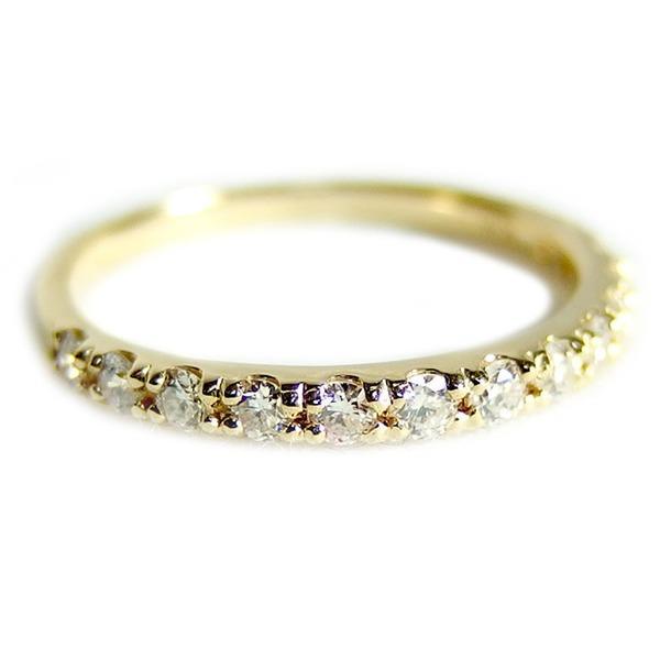 【送料無料(一部地域を除く)】 ダイヤモンド リングハーフエタニティ 0.3ct 10号 K18イエローゴールド 0.3カラット エタニティリング 指輪 鑑別カード付き, メンズ つちだ 3087a2be