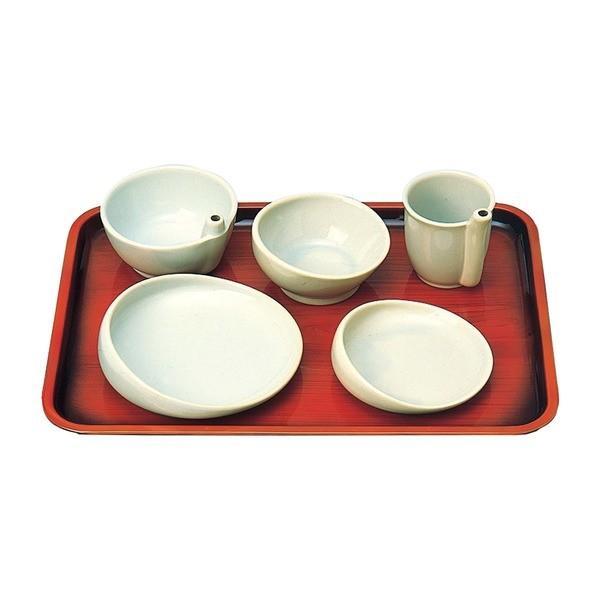 【有名人芸能人】 らくらく食器 96020 食事用具 有月陶器 5点セット-介護用品