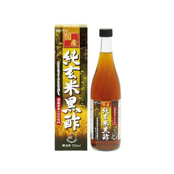 国産 純玄米 黒酢 720ml 井藤漢方製薬
