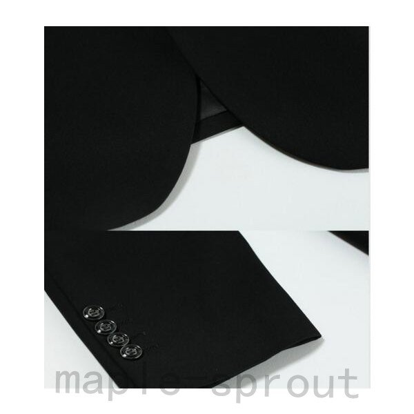 メンズビジネスオフィススーツ上下セット テーラードジャケットとズボンセット通勤カジュアルスーツ結婚式イベント細身パンツ2色|maple-sprout|05