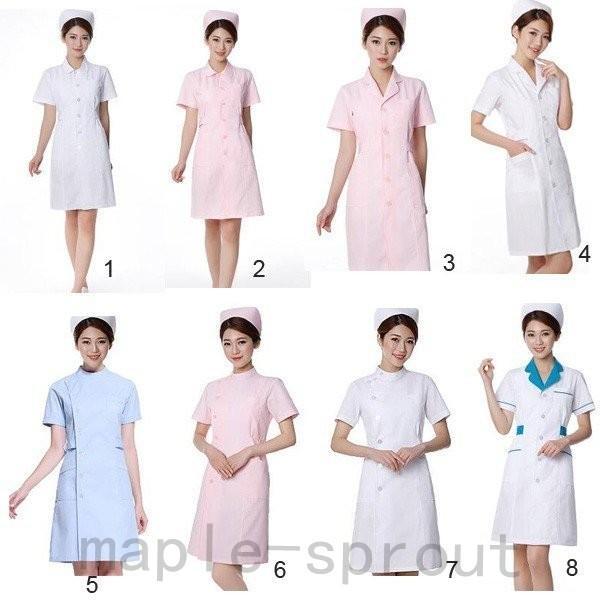 ナースウエア 医用ワンピース 白衣 女性 医療用 作業着・服 手術衣・オペ着 看護 介護|maple-sprout