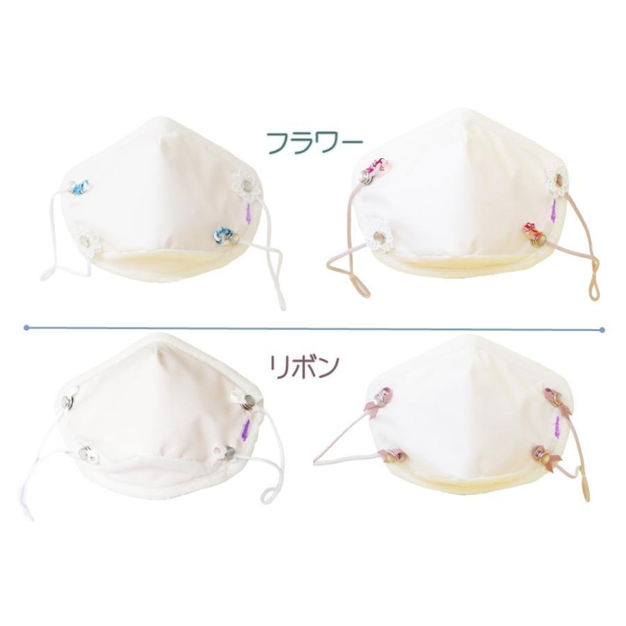 マスク 花粉症対策 微分子侵入防止加工 花粉対策 日本製  洗える 防護服素材  メンソール付 メープルB リボンデザイン|mapleb1|17