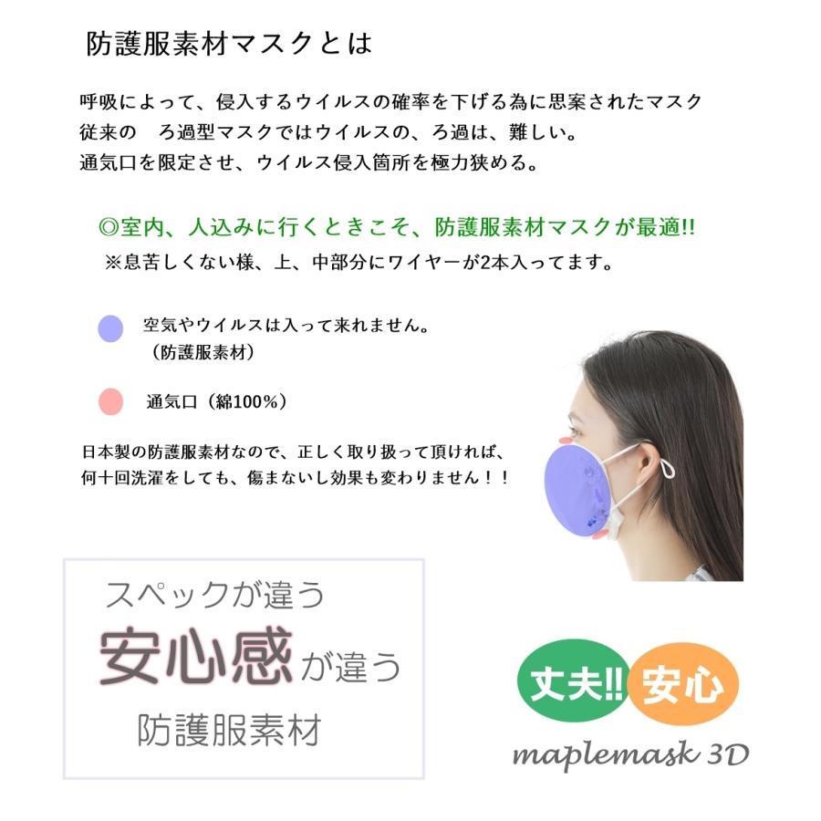 マスク 花粉症対策 微分子侵入防止加工 花粉対策 日本製  洗える 防護服素材  メンソール付 メープルB リボンデザイン|mapleb1|05
