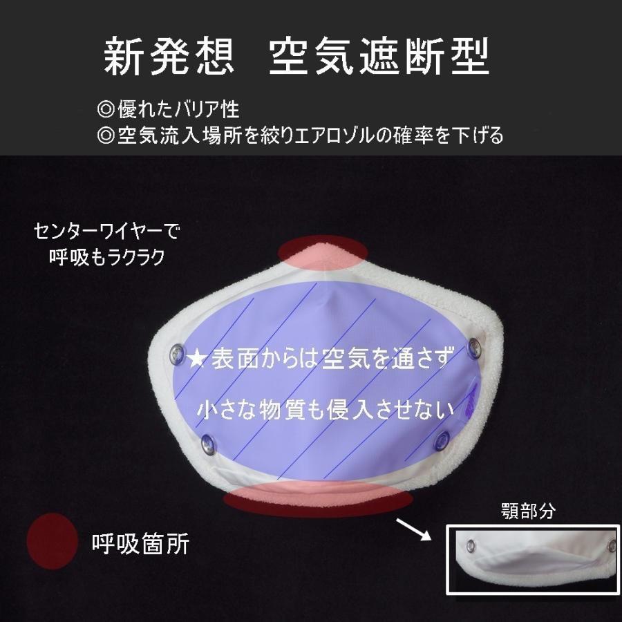 マスク 花粉症対策 微分子侵入防止加工 花粉対策 日本製  洗える 防護服素材  メンソール付 メープルB リボンデザイン|mapleb1|06