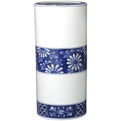 有田焼 傘立て 陶器 (かさ たて) 染付菊詰