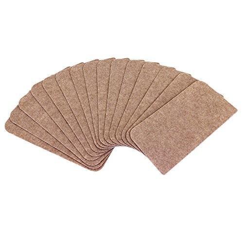 最高の 階段用 15枚入り 吸着加工 薄手 山五 滑り止め ブラウン色 45×22cm 洗えるカーペット-介護用品