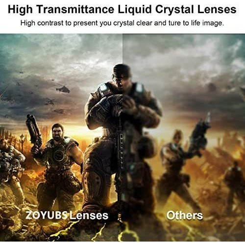 ZOYUBS G200 DLP Link方式 アクティブシャッター方式 3Dメガネ 充電式 96HZ-144HZ 技術 度付き眼鏡 Acer|mapletreehouse|03