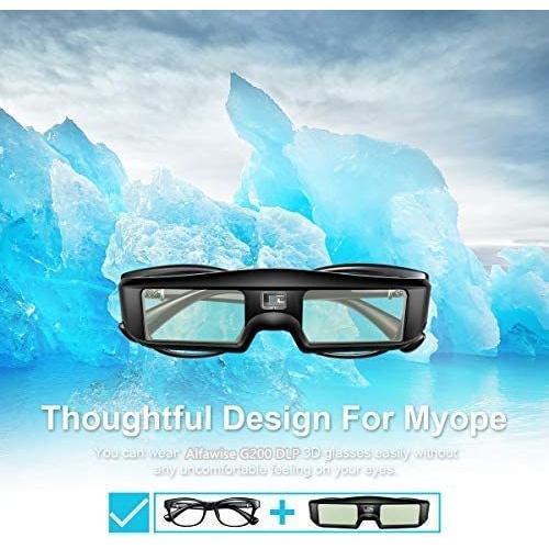 ZOYUBS G200 DLP Link方式 アクティブシャッター方式 3Dメガネ 充電式 96HZ-144HZ 技術 度付き眼鏡 Acer|mapletreehouse|05