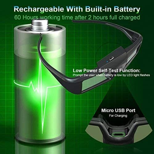 ZOYUBS G200 DLP Link方式 アクティブシャッター方式 3Dメガネ 充電式 96HZ-144HZ 技術 度付き眼鏡 Acer|mapletreehouse|06