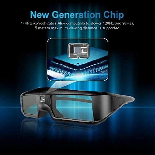 ZOYUBS G200 DLP Link方式 アクティブシャッター方式 3Dメガネ 充電式 96HZ-144HZ 技術 度付き眼鏡 Acer|mapletreehouse|08