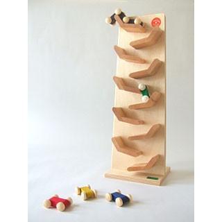 「ジャンピングカートレイン」木のおもちゃ 知育玩具