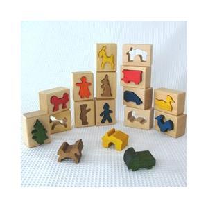 「はめ絵 大14ピース」木のおもちゃ 知育玩具