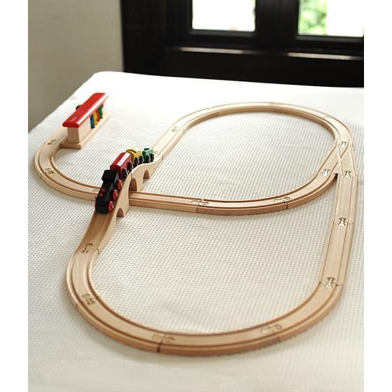 ミッキィ社(micki) 汽車セットスタンダード 木のおもちゃ レールトイ 木製