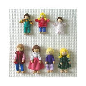 「7人家族セット」ドール 人形 木製玩具 デコア社 ドイツ