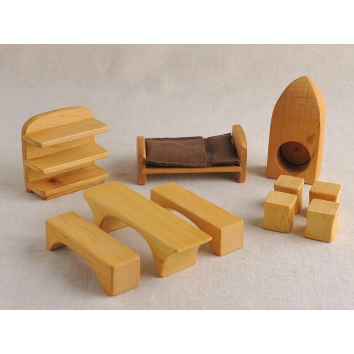 「メルヘンハウス家具セット」ドールハウス 木製玩具 ノルベルト社 ドイツ