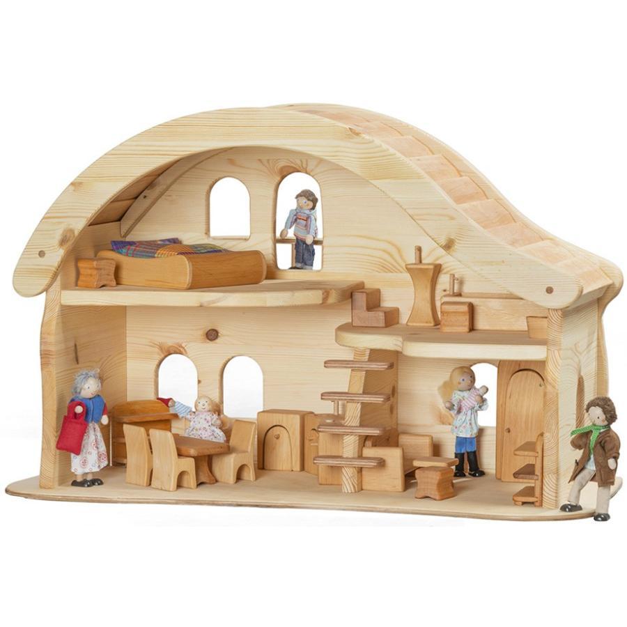 人形の家家具一式セット」ドールハウス 木製玩具 ノルベルト社 ドイツ ...