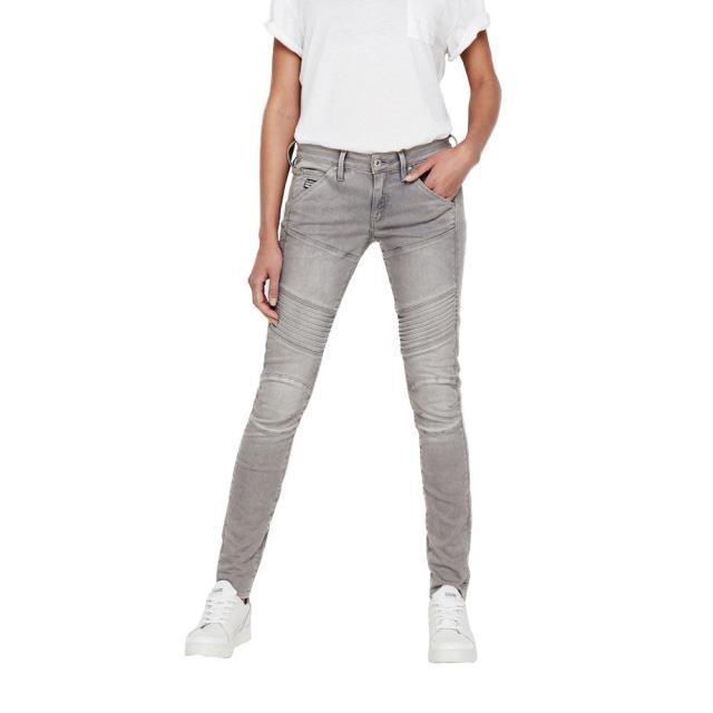 有名なブランド ジースター レディース 女性用ウェア ズボン gstar 5620-elwood-custom-mid-waist-skinny, dn e-shop 147bed2e