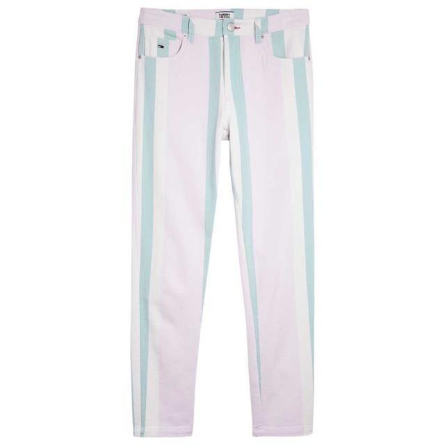 トミー ジーンズ レディース 女性用ウェア ズボン tommy-hilfiger contrast-stripe