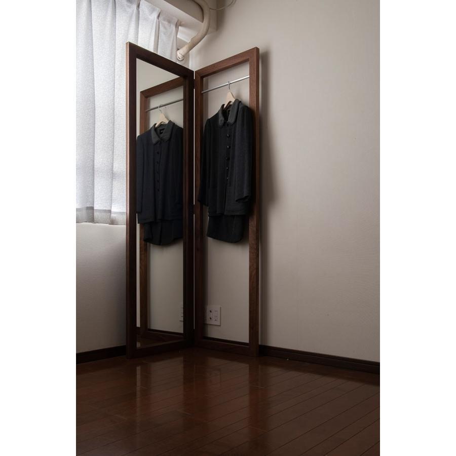 姿見鏡 おしゃれ ハンガーラック付き 1段タイプ 全身鏡 全身姿見鏡 ダークブラウン 180 大型 デザイン margherita 07