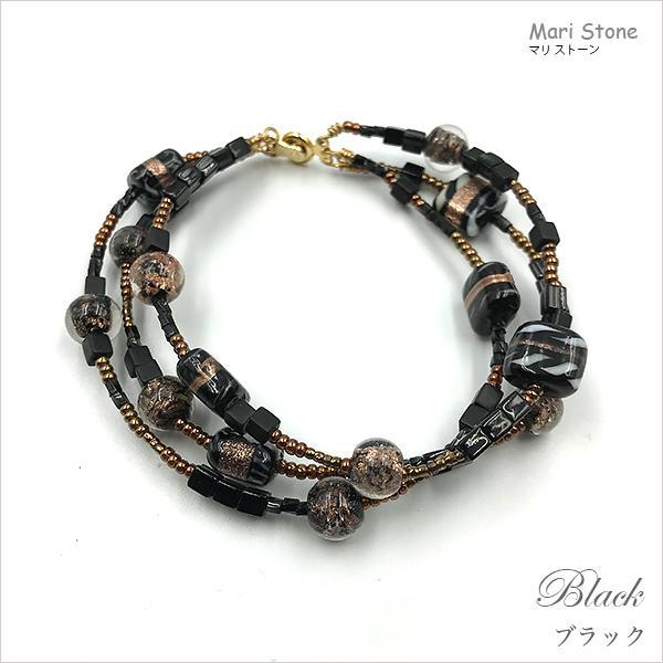 エスニック3連ブレスレット ワンタッチで脱着可 メール便送料無料 mari-stone 19