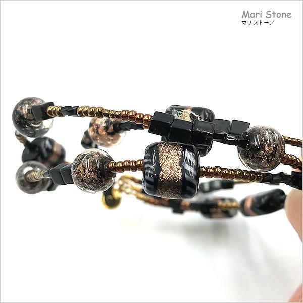 エスニック3連ブレスレット ワンタッチで脱着可 メール便送料無料 mari-stone 11