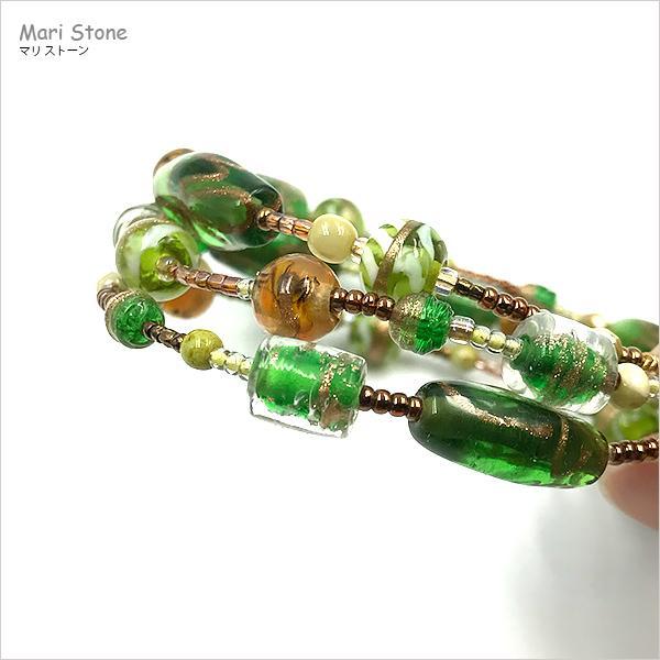 エスニック3連ブレスレット ワンタッチで脱着可 メール便送料無料 mari-stone 03