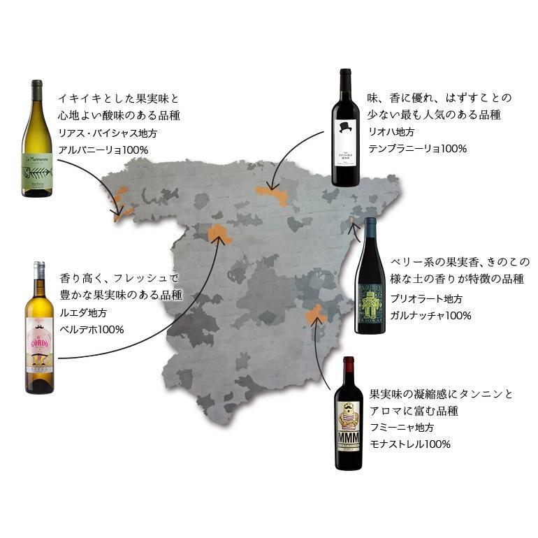 ワインセット THE WINE GURUS ギフトセット 赤ワイン 白ワイン スペインワインセット 缶バッチ マガジン入り 750ml 自社輸入 mariage 02